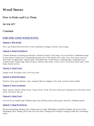 wood stoves how to make and use them ole wik 1977 stove