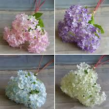 Home Floral Decor European Silk Flower Branch Artificial Hydrangea Wedding