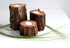 Tree Branch Home Decor Tree Branch Candle Holders Set Of 3 Wooden Tealight Holders