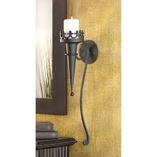 small black iron beautiful garden gate with outdoor sconces black
