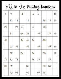 number names worksheets number charts to 100 free printable