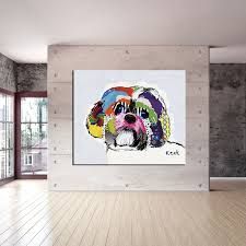 shih tzu house paint and wall painting for home decor idea oil
