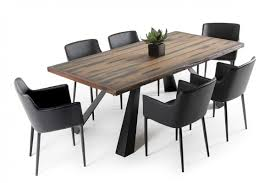 dining tables wooden modern angora dining table 95 u2033 modern reclaimed wood tables zin home