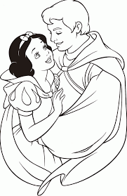 disney princess coloring pages snow white and prince coloring home