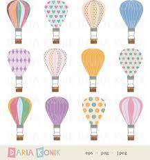 palloncini clipart palloncini clip set varie mongolfiere disegno digitale