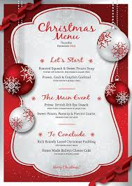 stunning free christmas dinner menu template pictures resume