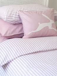 harriet hare ticking stripe rose pink cotbed set house of fraser