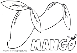 mango coloring pages coloring home