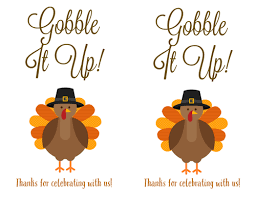 thanksgiving printable labels with turkey gobble it up label