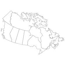blank political map of canada canada vector outline map at vectorportal