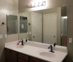 How To Make A Bathroom Mirror Frame Chic Mirror Frame Ideas With Textured Wall Color And White