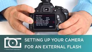 tutorial camera set up for external speedlite flashes for canon