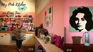 room tour my pink pop art kitchen youtube