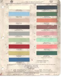 1957 ford paint codes
