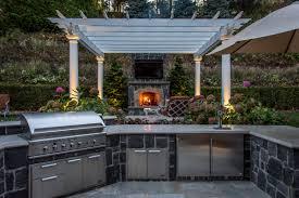 Pergola Outdoor Kitchen Franklin Lakes Backyard Retreat Clc Landscape Design