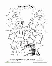 autumn days coloring worksheet education com