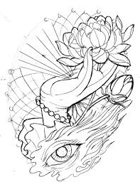 Fleur De Lotus Tattoo by Neo Traditional Lotus Hand Eye Sketch By Tattoomasterzao
