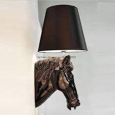 Dining Room Sconces by Aliexpress Com Buy Black White Gold Silver Big Horse Head Modern