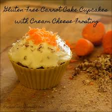 gluten free carrot cake cupcakes with honey cream cheese frosting