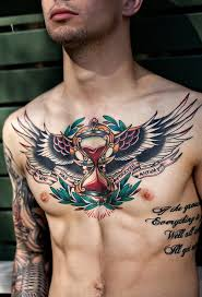 tattoo gallery chest pieces 64 best breast chest tattoos images on pinterest chest piece