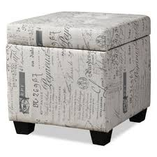 amalia cube ottoman u2013 cream the brick