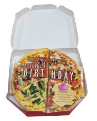 buy happy birthday pizza shape greeting card with teddy online at