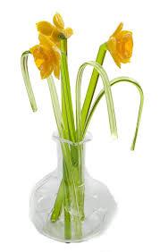 beautiful glass ornament sculpture daffodil flowers in