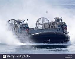 a u s marine corps landing craft air cushion transits at high