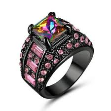 black gold sapphire engagement rings 5 80 ct rainbow sapphire engagement ring size 8 10kt black gold