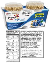 yoplait light yogurt ingredients a little left of center family fitness single serving blueberry