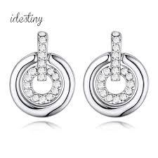 earrings brands new channel stud earrings fashion brands shape design white