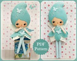 pdf blue doll plush doll pattern softie pattern soft