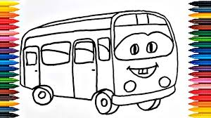 colours for kids bus coloring pages how to color bus