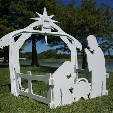 large complete nativity set