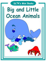 printable activities children s books dltk s make your own books big and little ocean animals