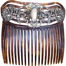 antique hair combs antique faux tortoiseshell hair comb with of pearl cabochon