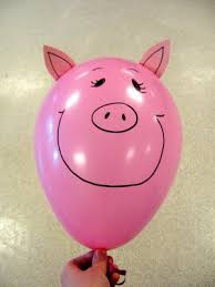 pig balloons diy pig balloons party time birthdays craft and