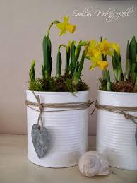 blikken verven en vullen met plantjes διακοσμηση pinterest