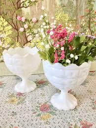 Bulk Bud Vases Milk Glass Bowl Milk Glass Vase Candy Dish White Bowls Wedding