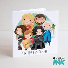 of thrones birthday card personalised of thrones birthday card beyond the ink