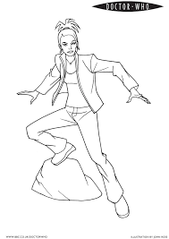 bbc doctor who coloring page 4 martha coloring fantasy