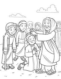heals the sick because miracles of jesus coloring page u2026 pinteres u2026