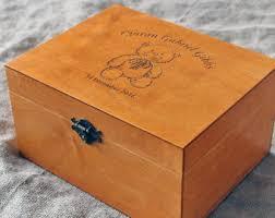 engraved memory box custom keepsake box etsy