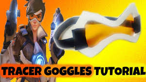 tracer goggles tutorial overwatch cosplay youtube