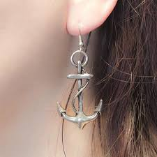 anchor earrings earrings anchors ropes silver