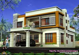 Flat Roof House May 2015 Kerala Home Design And Floor Plans
