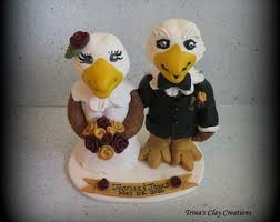 eagle cake topper wedding cake topper swans swan custom polymer clay