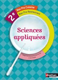 sciences appliqu s cap cuisine sciences appliquées 2e bac pro cuisine livre de l élève