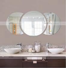 Round Bathroom Mirror With Shelf by Aliexpress Com Buy Three Dimensional Crystal Wall Stickers