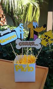 mickey mouse clubhouse centerpieces pluto centerpiece or decoration for cake by gamiboutique on zibbet